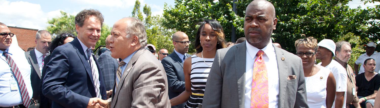 Mayor Ras J. Baraka and Sakina Cole